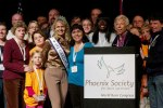 Sarah Bazey with Phoenix Society Board Members