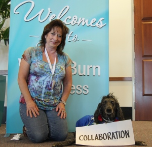 maureen and assistance dog