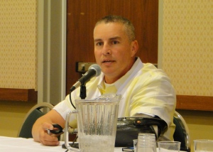 Luis Nevarez, firefighter and burn survivor, shares his viewpoint as a panelist at WBC.