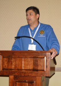 Phil Tammaro at In the Line of Duty, one of several programs at WBC focusing on the experiences of firefighter-survivors.